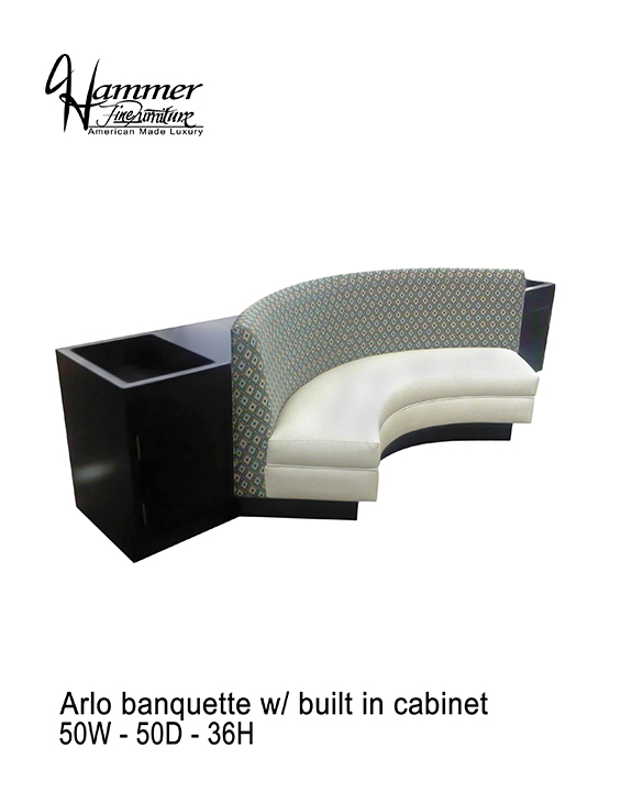 Arlo Banquette Built In Cabinet