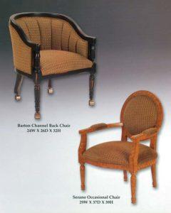 Barton Channel Back Chair & Serano Occasional Chair