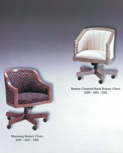 Barton Rotary Chair & Mustang Rotary Chair