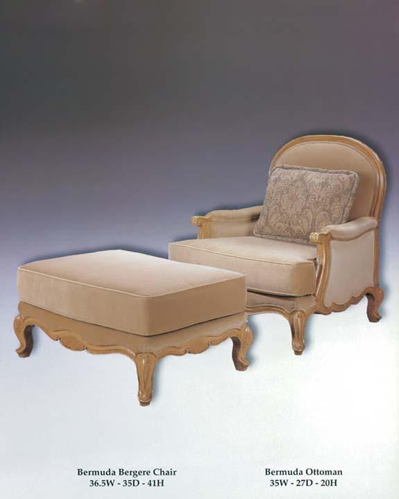 Bermuda Bergere Chair & Ottoman