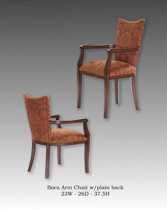 Boca Arm Chair-Plain Back