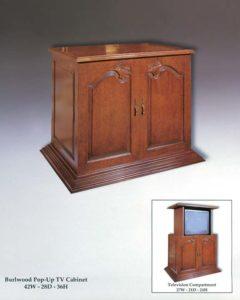 Burlwood Pop-Up TV Cabinet