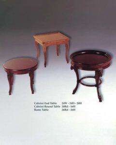Cabrini End, Cabrini Round & Rams Tables