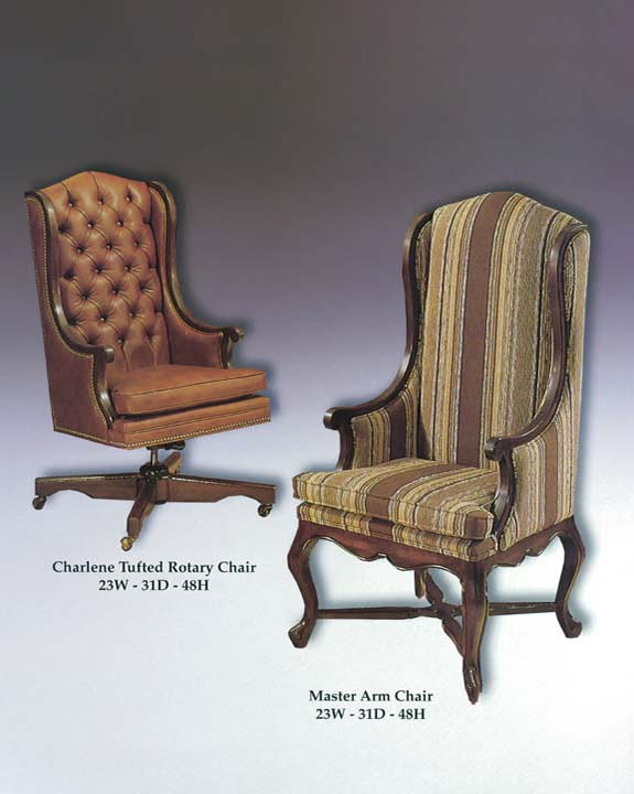 Charlene Rotary Chair & Master Arm Chair