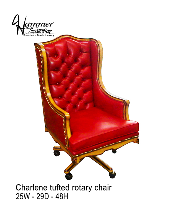 Charlene Tufted Rotary Chair