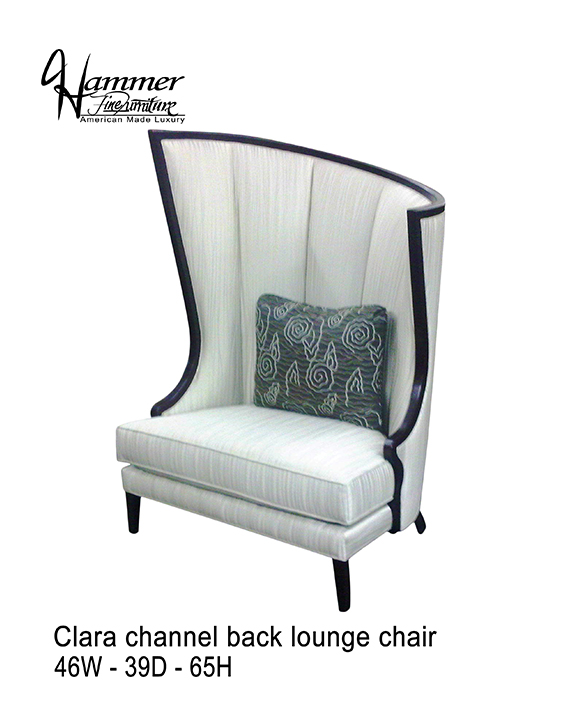 Clara Channel Back Lounge Chair
