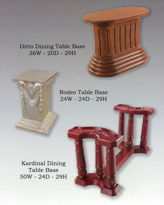 Ditto, Kardinal & Rodeo Table Bases