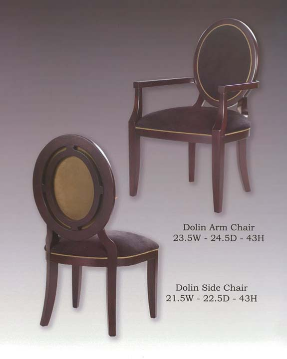 Dolin Arm & Side Chairs