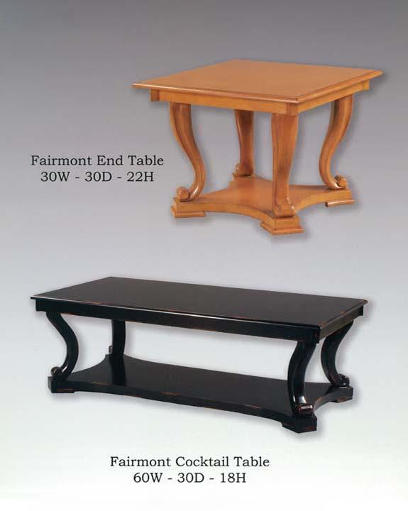 Fairmont Table Collection