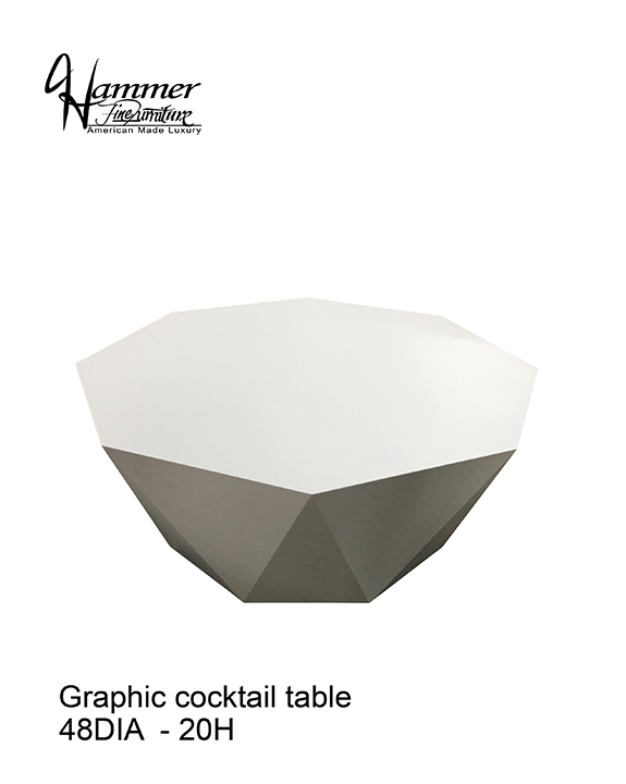 Graphic Cocktail Table