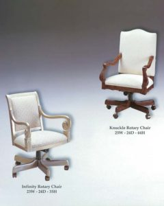 Infinity & Knuckle Rotary Chairs
