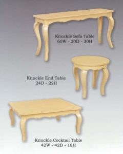 Knuckle Table Collection