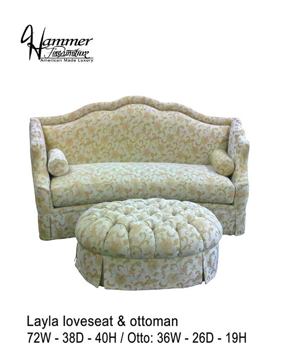 Layla Loveseat & Ottoman