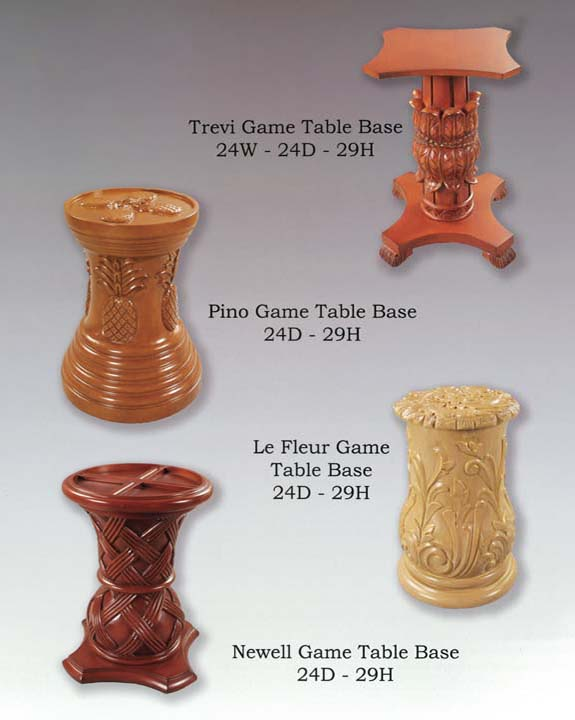Le Fleur, Newell, Pino & Trevi Game Table Bases