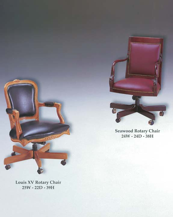 Louis XV & Seawood Rotary Chairs