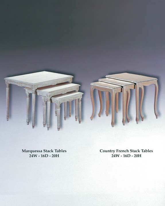 Marquessa & Country French Stack Tables