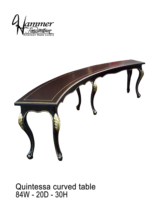 Quintessa Curved Table