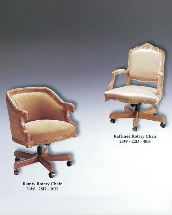 Raffinee & Ramty Rotary Chairs