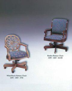 Rodeo & Wheelback Rotary Chairs