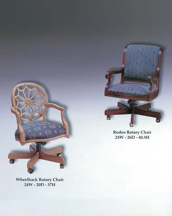 Rodeo & Wheelback Rotary Chairs