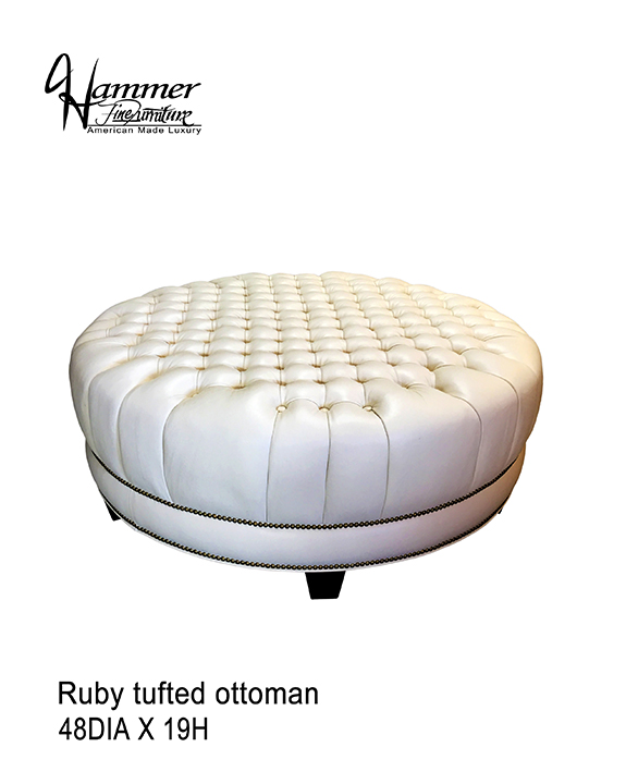 Ruby Tufted Ottoman