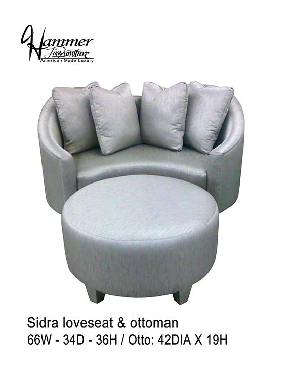 Sidra Loveseat & Ottoman