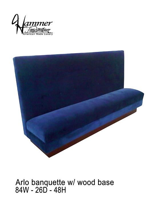 Arlo Banquette Wood Base