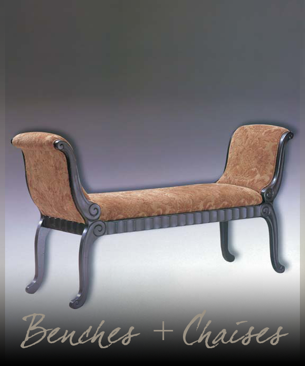 Benches + Chaises