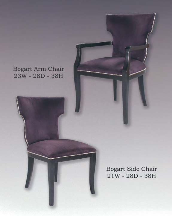 Bogart Arm & Side Chairs