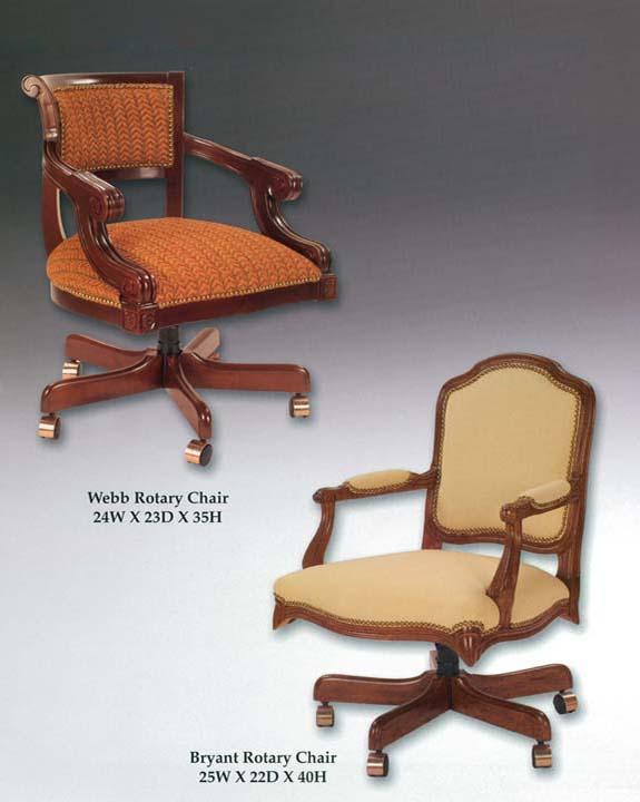 Bryant & Webb Rotary Chairs