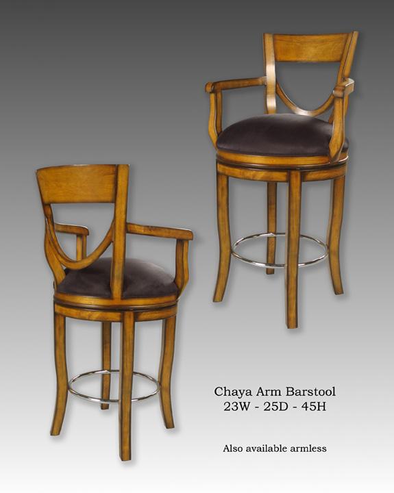 Chaya Arm & Armless Barstools