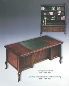 Country French Credenza & Bookcase Top and Desk