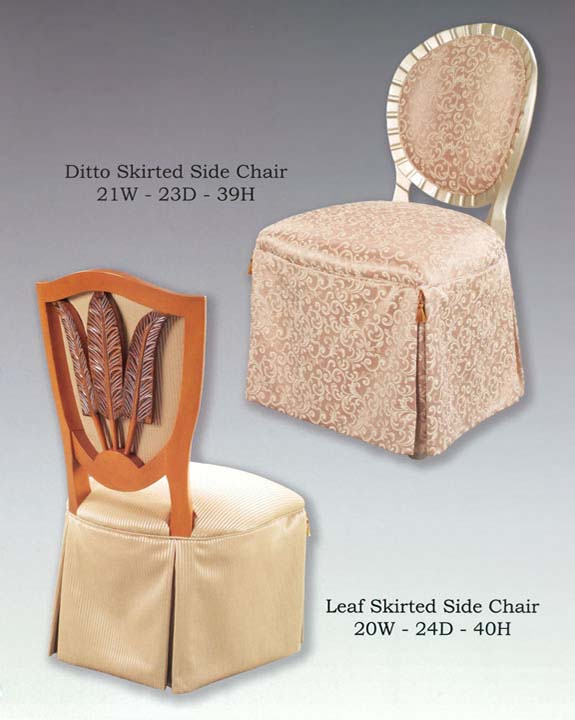 Ditto & Leaf Skirted Chairs