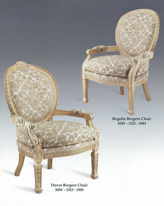 Dover & Regatta Bergere Chairs