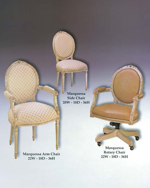 Marquessa Arm, Side & Rotary Chairs