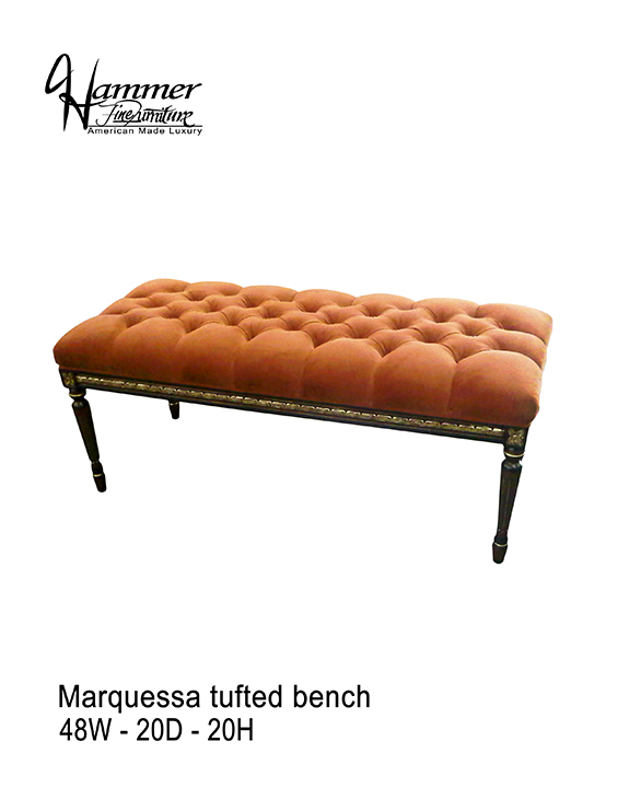 Marquessa Tufted Bench