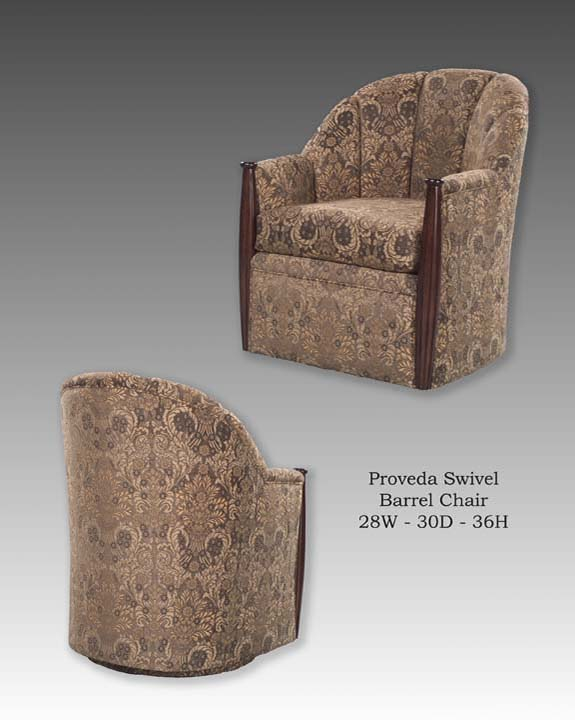 Provenda Swivel Barrel Chair