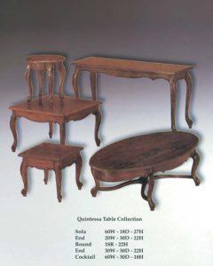 Quintessa Table Collection