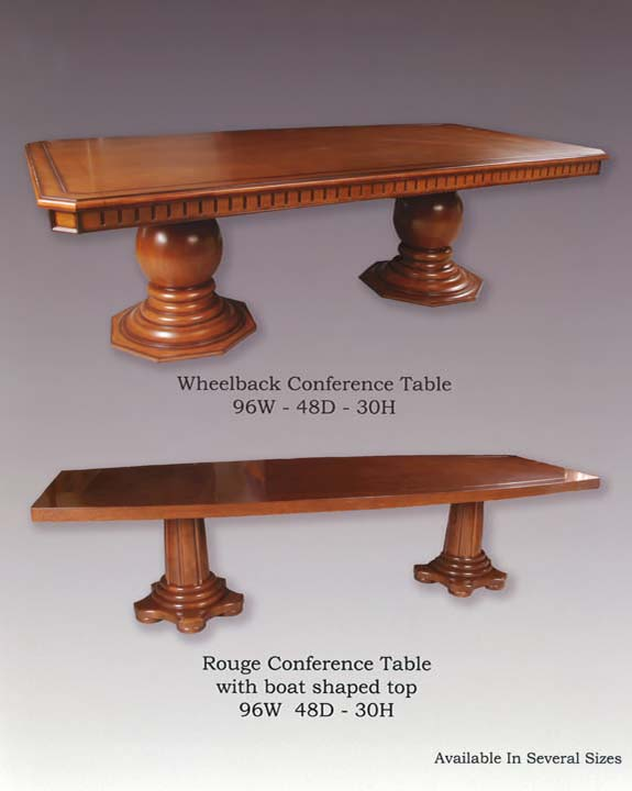 Wheelback & Rouge Conference Tables