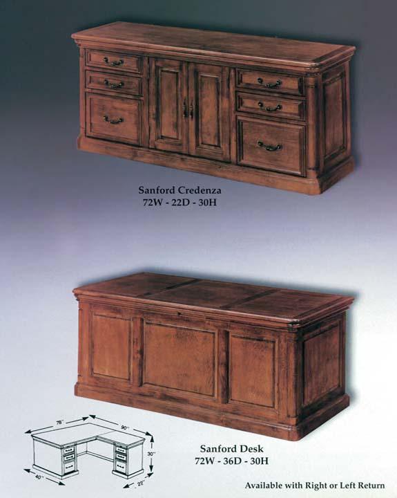 Sanford Credenza & Desk