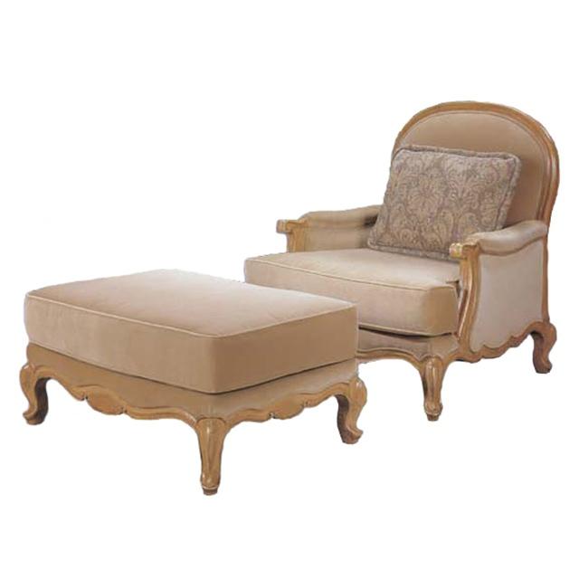 Bermuda Bergere Chair and Ottoman