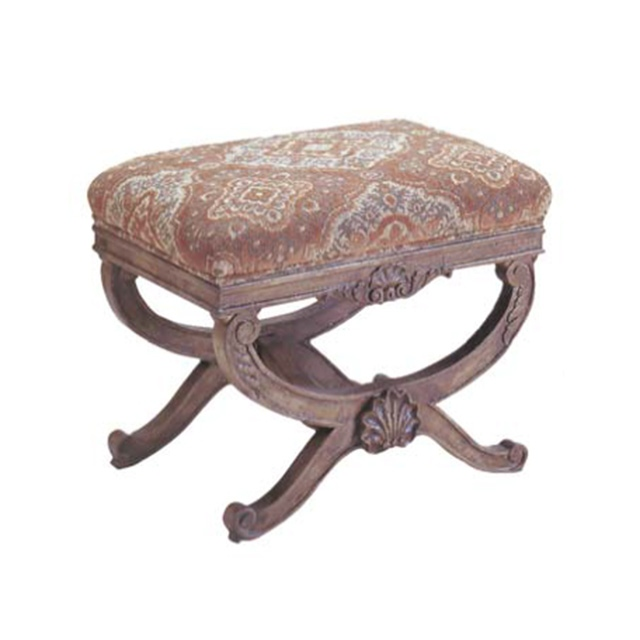 Carved Ottoman