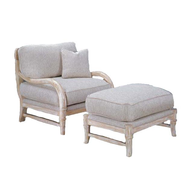 Safari Bergere Chair and Ottoman