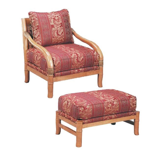 Saison Bergere Chair and Ottoman